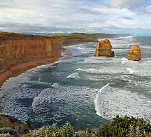 Gibson Steps. Port Campbell National Pk, Victoria, Australia.  by Ralph de Zilva