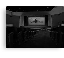 Movie Theater in Black and White Canvas Print