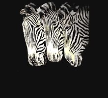 three zebras Womens Fitted T-Shirt