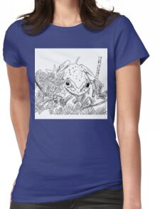 Spider Lake Frog  Womens Fitted T-Shirt