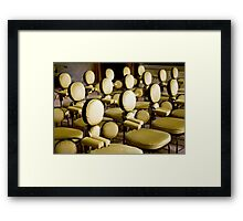 Padded Chairs Framed Print