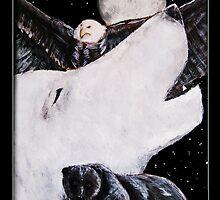 Howling at the Moon by Vanessa  Soaring Souls Hawk Kell