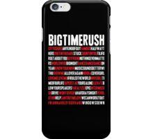 BTR songlist (red&white text) iPhone Case/Skin