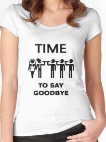 Time To Say Goodbye (Team Groom / Stag Party) Black Women's Fitted Scoop T-Shirt
