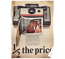 Retro photo poster. Polaroid photo  Poster