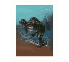 Deep ones from Innsmouth Art Print
