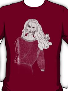 Knitted Lady #3 T-Shirt