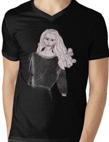 Knitted Lady #3 Mens V-Neck T-Shirt