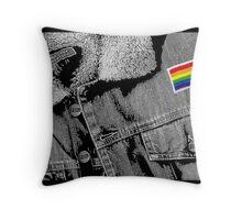 """""""Matt's Rainbow Jacket"""" Throw Pillow"""