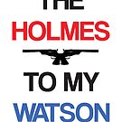 Holmes to my Watson Card (White) by KitsuneDesigns