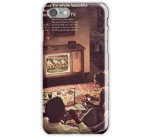 Old vintage magazine page iPhone Case/Skin