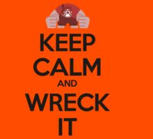 Keep Calm and Wreck it Kids Clothes