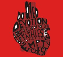 empty chest : anatomical heart (small red) Kids Tee