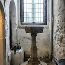 Michelham Priory ( 6 ) The Font by Larry Davis