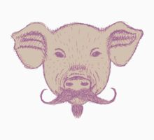 Sketch Pig with Mustache Kids Clothes