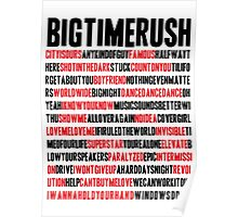 BTR songlist (red&black text) Poster