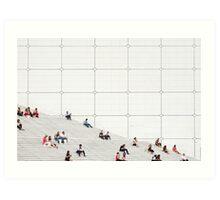 Le Grande Arche steps Paris  Art Print