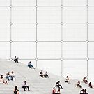 Le Grande Arche steps Paris  by Cecily  Graham