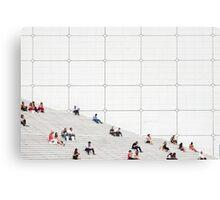 Le Grande Arche steps Paris  Canvas Print