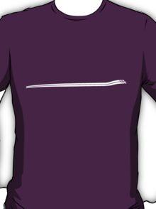 Dodge Chalenger R/T Side Fender Stripe Teeshirt - White T-Shirt