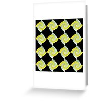 GOLD AND SILVER SWIRLED ABSTRACT DESIGN Greeting Card