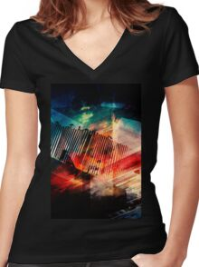 Heavenly Superiors  Women's Fitted V-Neck T-Shirt
