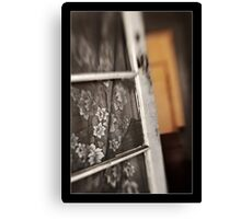 Old Door with Lace Canvas Print