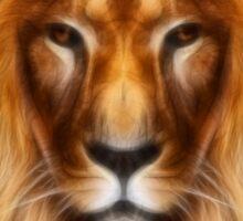 artistic lion portrait Sticker