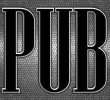 Pub in metal cross Sticker