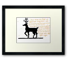 Prongs Framed Print