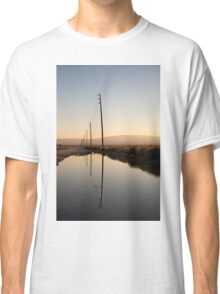 Telephone Pole Reflection Classic T-Shirt
