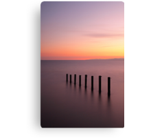 Saltcoats Sunset Canvas Print