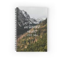 Not all those who wander Spiral Notebook