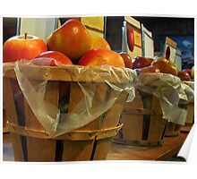 Bushels of Apples Poster