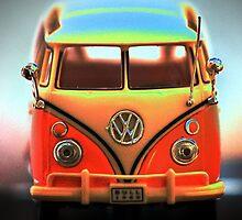 Volkswagon - Mint Van by David W Bailey