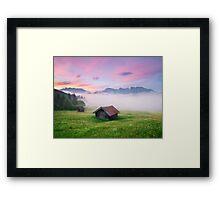 Alpen Glory Framed Print