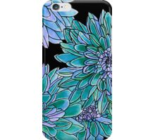 Autumn Kiss ~ Teal Dahlias iPhone Case/Skin