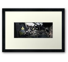 Destroyed By Fire Framed Print