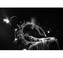 """Sparkler Fun 4""  by Carter L. Shepard Photographic Print"