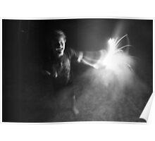 """Sparkler Fun 5""  by Carter L. Shepard Poster"