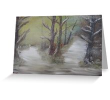 """""""Two Winter Paths""""  by Carter L. Shepard Greeting Card"""