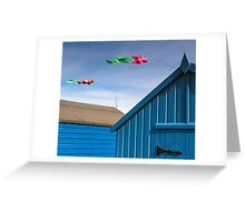 Windsocks and Beach huts Greeting Card