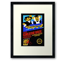 Super Corleone Bros Framed Print