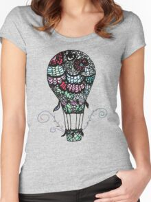 Flower Air Balloon Women's Fitted Scoop T-Shirt
