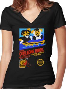 Super Corleone Bros Women's Fitted V-Neck T-Shirt