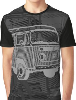Black Silver Bay Campervan Dub-U (please see description) Graphic T-Shirt