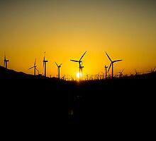 Sunset Through the Windmills by Philip Kearney