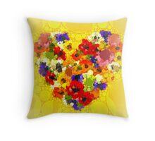 Blumenherzen Throw Pillow