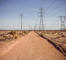 Vanishing Point, Mojave Desert by Philip Kearney