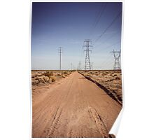 Vanishing Point, Mojave Desert Poster